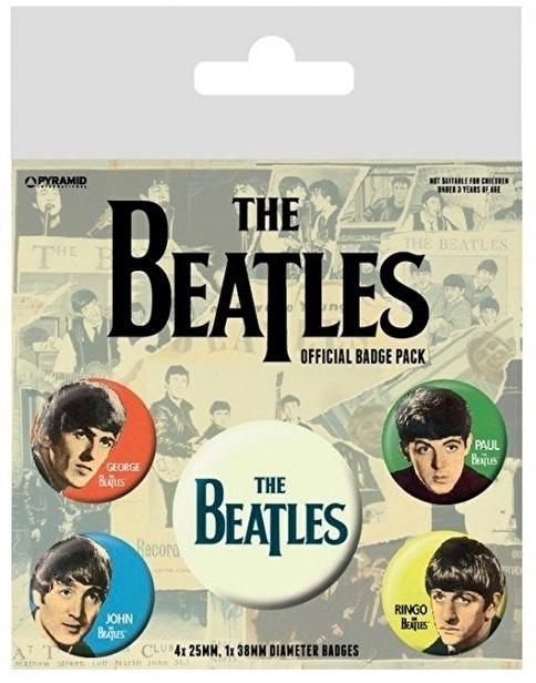 Pyramid International Rozet Seti - The Beatles Band Renkli